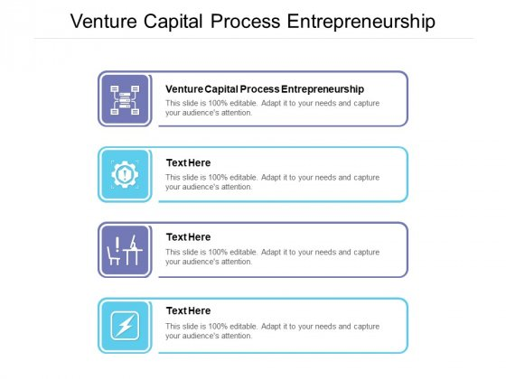 Venture Capital Process Entrepreneurship Ppt PowerPoint Presentation Pictures File Formats Cpb