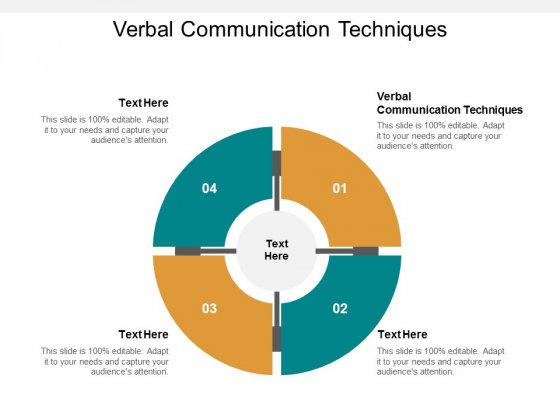 Verbal Communication Techniques Ppt PowerPoint Presentation Gallery Inspiration Cpb