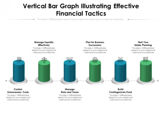 Vertical Bar Graph Illustrating Effective Financial Tactics Ppt PowerPoint Presentation File Portrait PDF