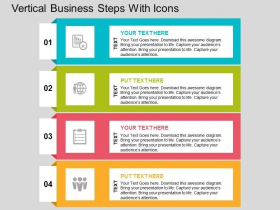Vertical Business Steps With Icons Powerpoint Templates