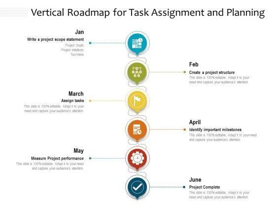 Vertical_Roadmap_For_Task_Assignment_And_Planning_Ppt_PowerPoint_Presentation_File_Background_Image_PDF_Slide_1