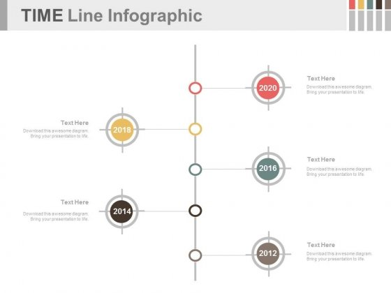 vertical timeline for year based analysis powerpoint slides