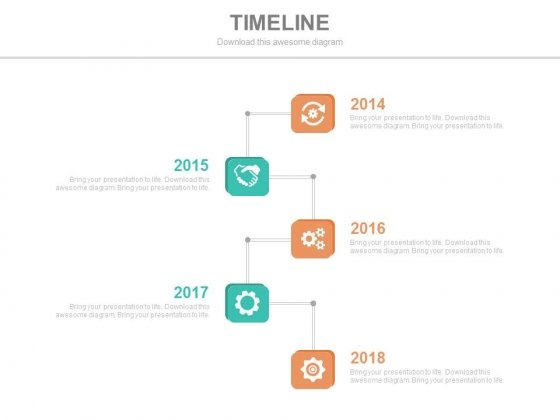 Vertical Timeline With Years And Icons Powerpoint Slides
