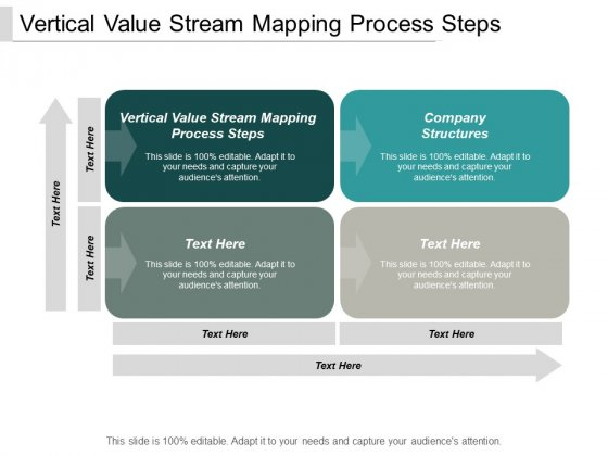 Vertical Value Stream Mapping Process Steps Company Structures Ppt PowerPoint Presentation Show Portfolio