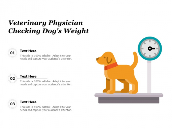 Veterinary Physician Checking Dogs Weight Ppt PowerPoint Presentation Pictures Layout Ideas PDF