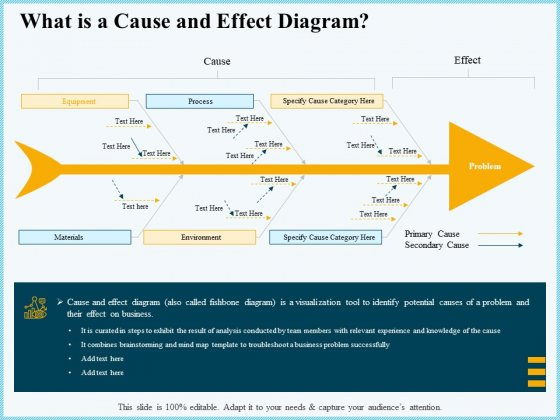 Vicious Circle Effect On Quality Assurance What Is A Cause And Effect Diagram Ppt Infographics Deck PDF