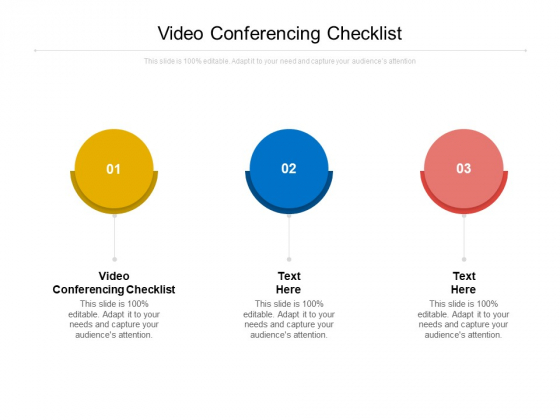 Video Conferencing Checklist Ppt PowerPoint Presentation Pictures Master Slide Cpb Pdf