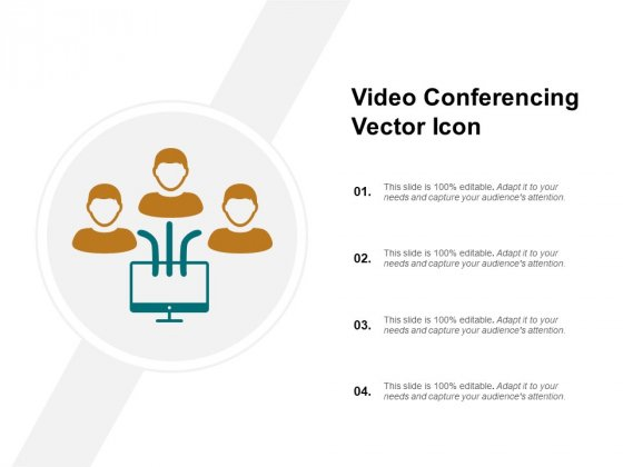 Video Conferencing Vector Icon Ppt PowerPoint Presentation Layouts Background Images
