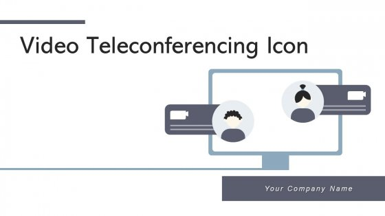 Video Teleconferencing Icon Management Device Ppt PowerPoint Presentation Complete Deck With Slides