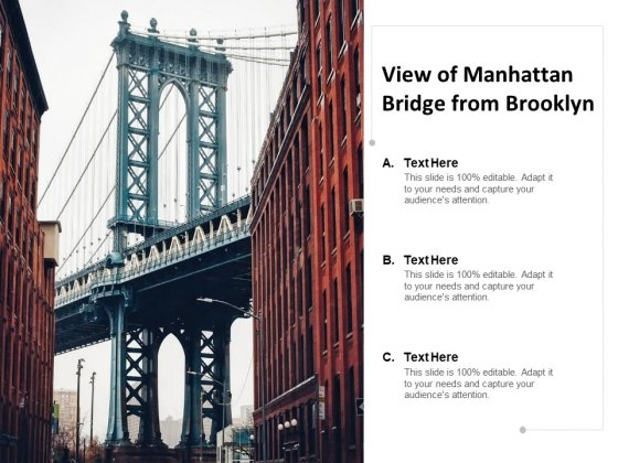 View Of Manhattan Bridge From Brooklyn Ppt PowerPoint Presentation Styles Deck
