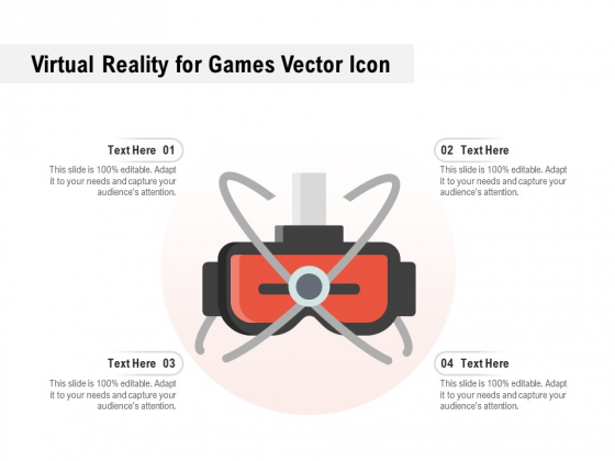 Virtual Reality For Games Vector Icon Ppt PowerPoint Presentation Outline Icons PDF