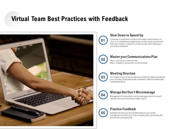 Virtual Team Best Practices With Feedback Ppt PowerPoint Presentation Gallery Clipart PDF