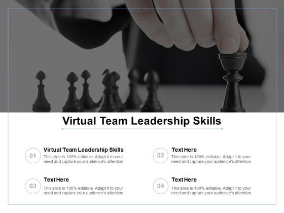 Virtual Team Leadership Skills Ppt Powerpoint Presentation Inspiration Demonstration Cpb