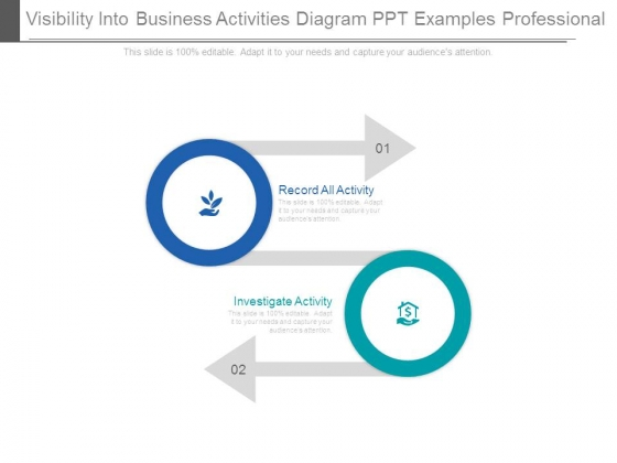Visibility Into Business Activities Diagram Ppt Examples Professional