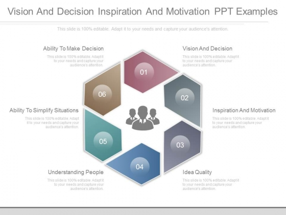 Vision And Decision Inspiration And Motivation Ppt Examples