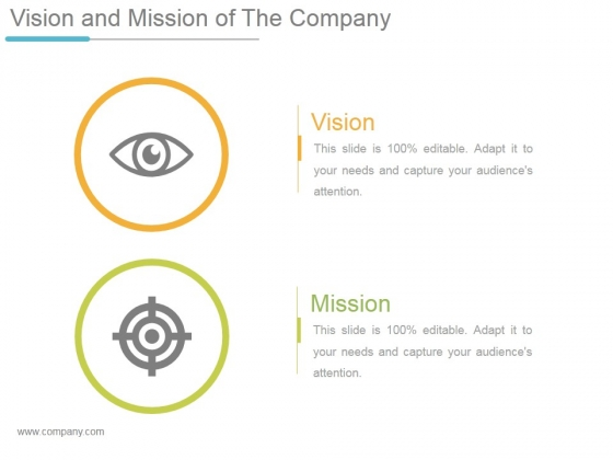 Vision And Mission Of The Company Ppt PowerPoint Presentation Shapes