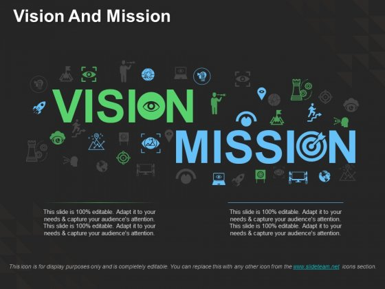 Vision And Mission Ppt PowerPoint Presentation Visual Aids Example File