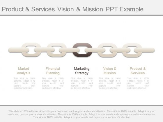 Vision And Mission Product And Services Ppt Sample