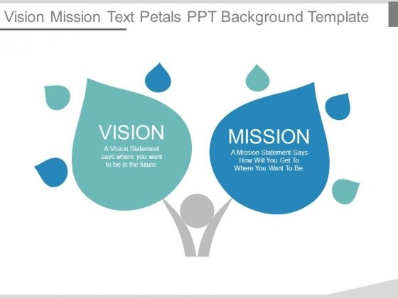 Vision Mission Text Petals Ppt Background Template