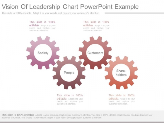 Vision Of Leadership Chart Powerpoint Example