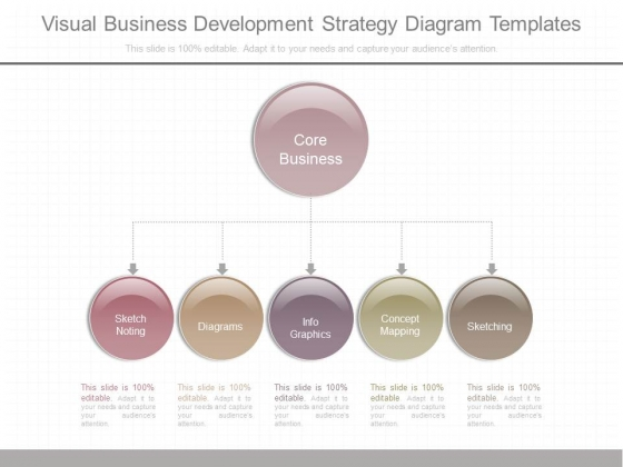 Visual Business Development Strategy Diagram Templates
