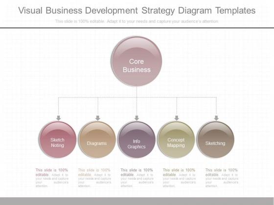 Visual Business Development Strategy Diagram Templates