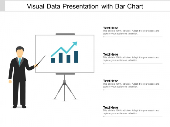 Visual Data Presentation With Bar Chart Ppt PowerPoint Presentation Portfolio Brochure