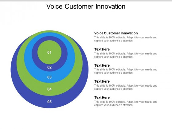 Voice Customer Innovation Ppt PowerPoint Presentation Show Cpb Pdf