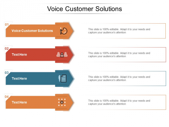 Voice Customer Solutions Ppt PowerPoint Presentation Inspiration Infographics Cpb Pdf