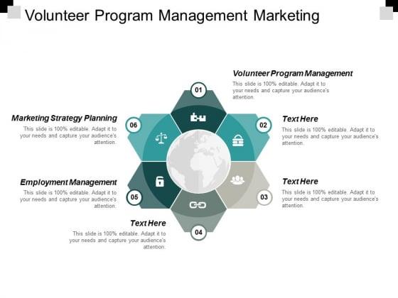 Volunteer Program Management Marketing Strategy Planning Employment Management Ppt PowerPoint Presentation Professional Grid