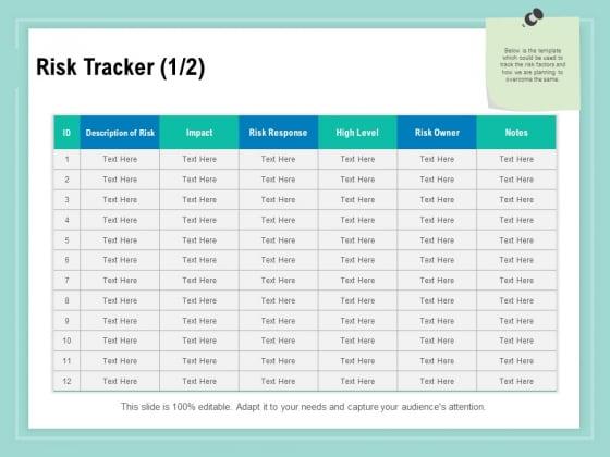 Vulnerability Assessment Methodology Risk Tracker Ppt Icon Brochure PDF