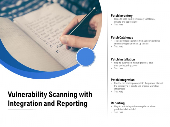 Vulnerability Scanning With Integration And Reporting Ppt PowerPoint Presentation Pictures Clipart Images PDF