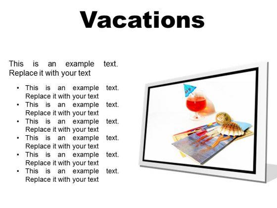 Vacations Beach PowerPoint Presentation Slides F