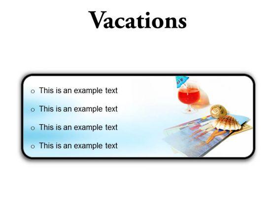 Vacations Beach PowerPoint Presentation Slides R