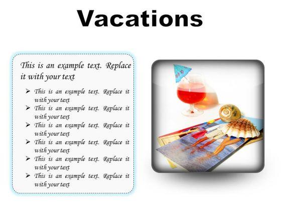 Vacations Beach PowerPoint Presentation Slides S