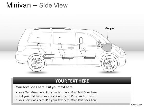 Van Green Minivan Side View Slides And Ppt Diagrams Templates