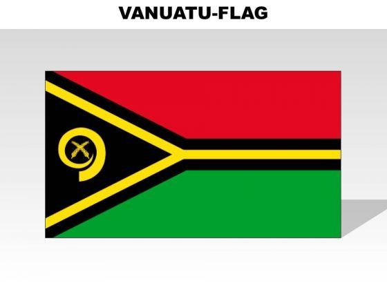 Vanuatu Country PowerPoint Flags