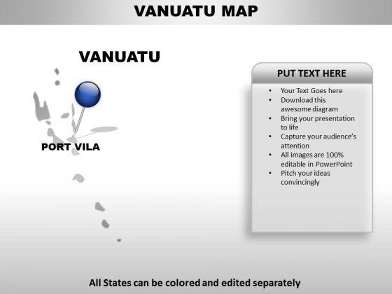 Vanuatu Country PowerPoint Maps