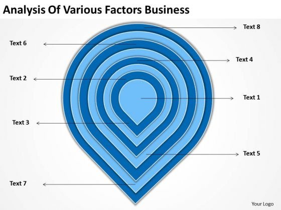 Various Factors Business Downloadable Plan Template PowerPoint Templates