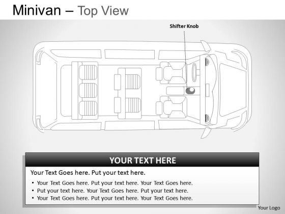 Vector Green Minivan Top View PowerPoint Slides And Ppt Diagram Templates