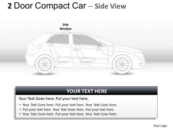 Vehicle 2 Door Gray Car Side PowerPoint Slides And Ppt Diagram Templates