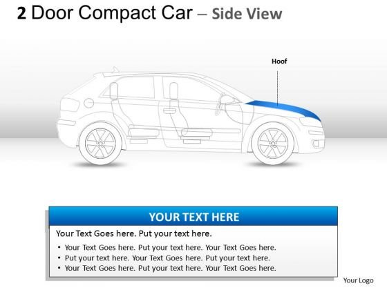 Vehicles 2 Door Blue Car Side PowerPoint Slides And Ppt Diagram Templates
