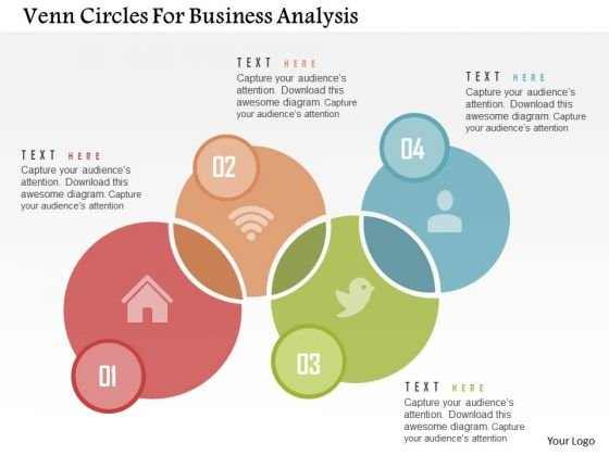 Venn Circles For Business Analysis Presentation Template