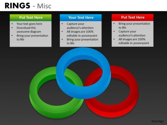 Venn Diagram With Rings PowerPoint Templates And Editable Ppt Slides