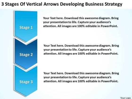 Vertical Arrows Developing Marketing Concepts Ppt Business Plan Cover Page PowerPoint Slides