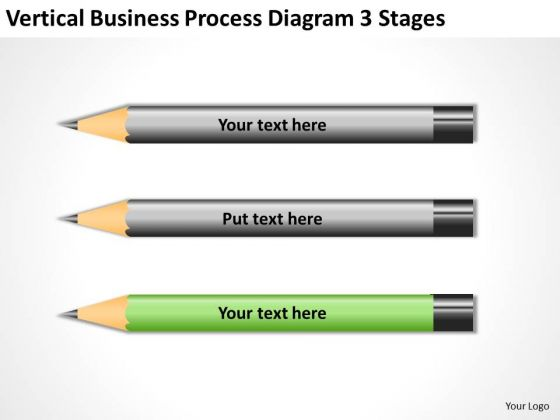 Vertical Business Process Diagram 3 Stages Ppt Easy Plans PowerPoint Templates