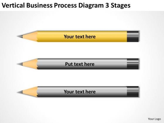 Vertical Business Process Diagram 3 Stages Ppt Plan PowerPoint Templates