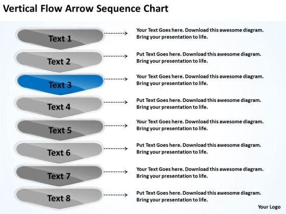Vertical Flow Arrow Sequence Chart Home Health Care Business Plan - Healthcare business plan template