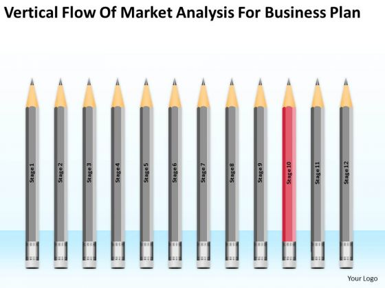 Vertical Flow Of Market Analysis For Business Plan Ppt 10 Sales PowerPoint Templates