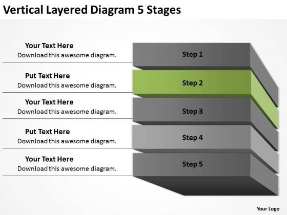 Vertical Layered Diagram 5 Stages Ppt How To Business Plan PowerPoint Templates